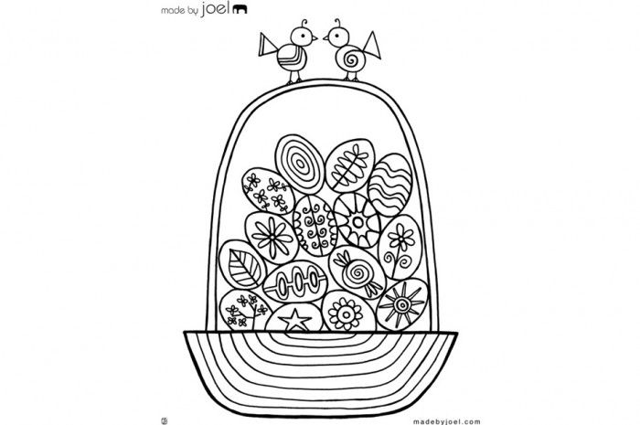 Made by Joel » Easter Egg Basket Coloring Sheet