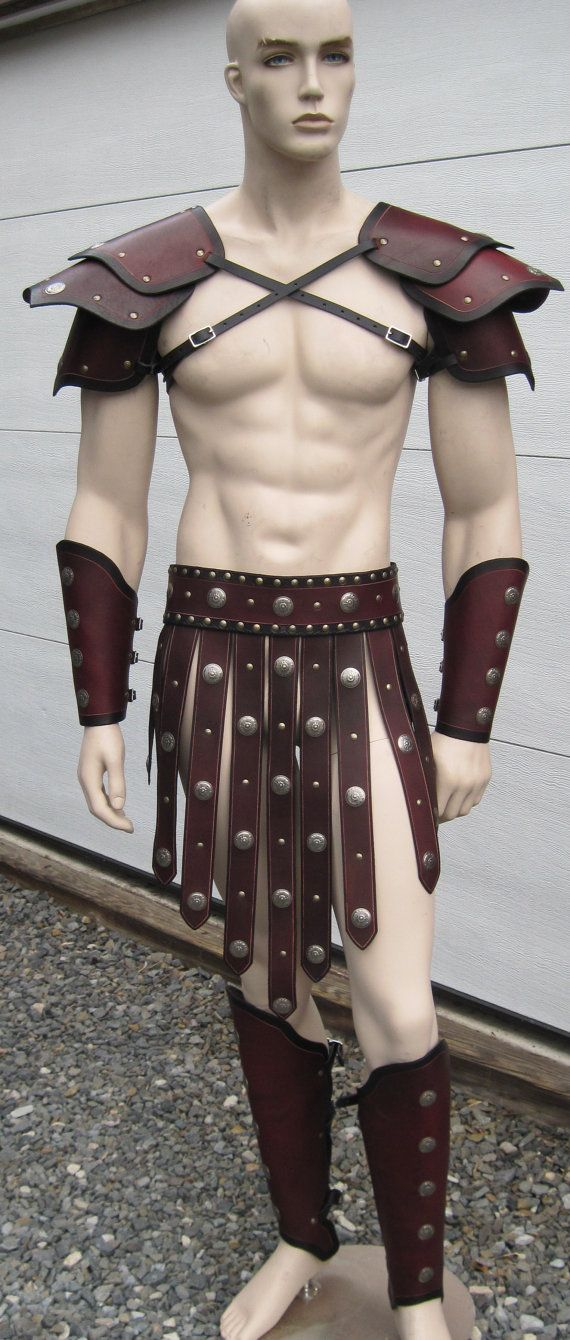 Gladiator Leather Armor Set larp cosplay by SharpMountainLeather, $499.99