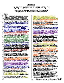 YW value colour coded family proclamation this is a great tool for working on Personal Progress!