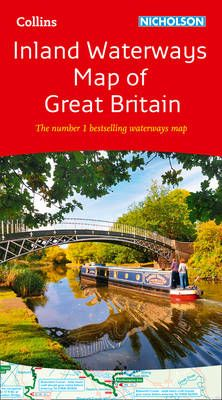 Collins Nicholson Inland Waterways Map of Great Britain