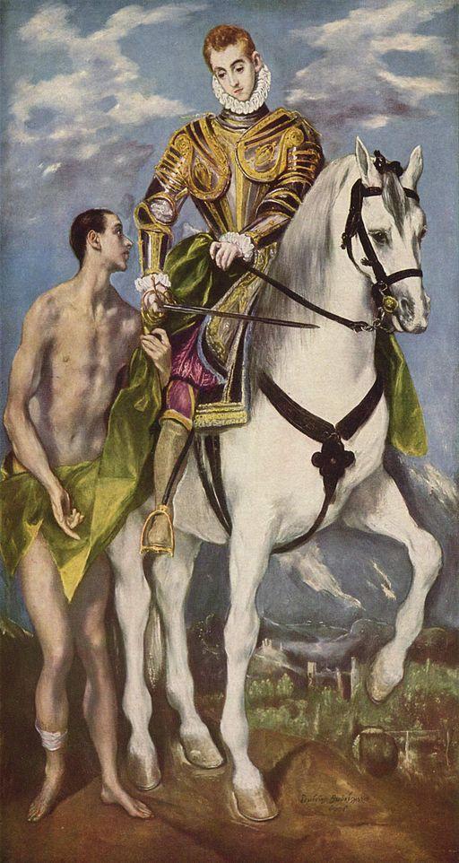 El Greco. St. Martin und der Bettler.