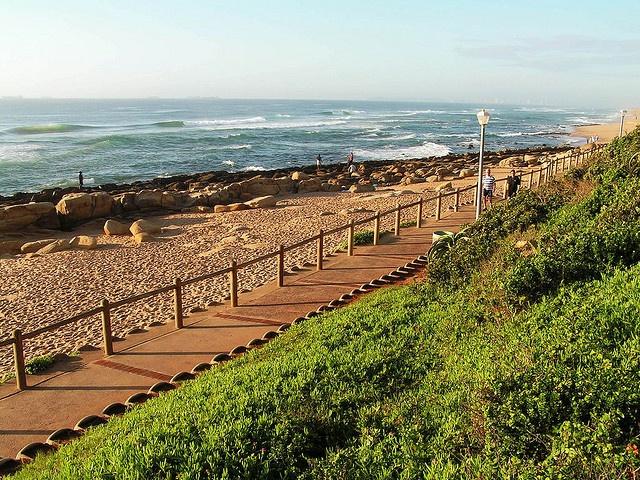 Umhlanga beach - looking south, Kwazulu Natal, South Africa