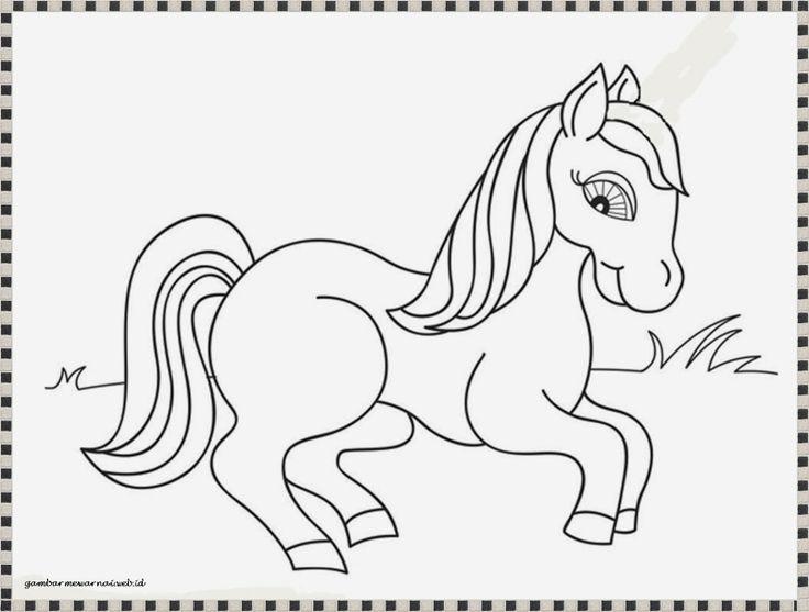 mewarnai gambar anak kuda poni yang lucu
