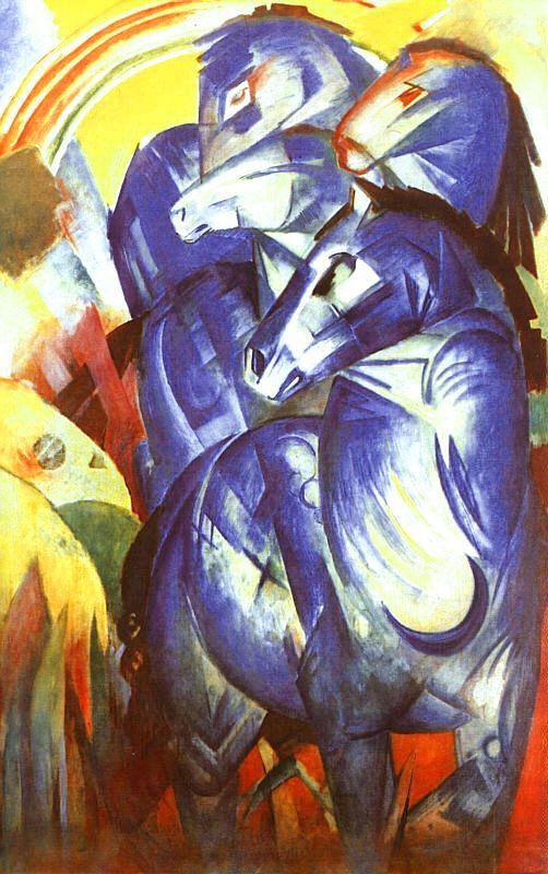 DER BLAUE REITER - FRANZ MARC - Early Expressionist Art