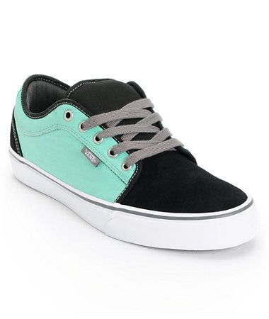 Vans Chukka Low Black & Mint