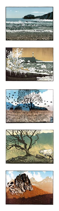 Cards for purchase. Linocut prints by Ian Phillips. http://www.reliefprint.co.uk/ Tags: Linocut, Cut, Print, Linoleum, Lino, Carving, Block, Woodcut, Helen Elstone, Wales, Welsh, Cymru, Landscape, Sea, Beach, Waves, Storm, Trees, Birds, Fields, Sheep, Rocks, Sky.