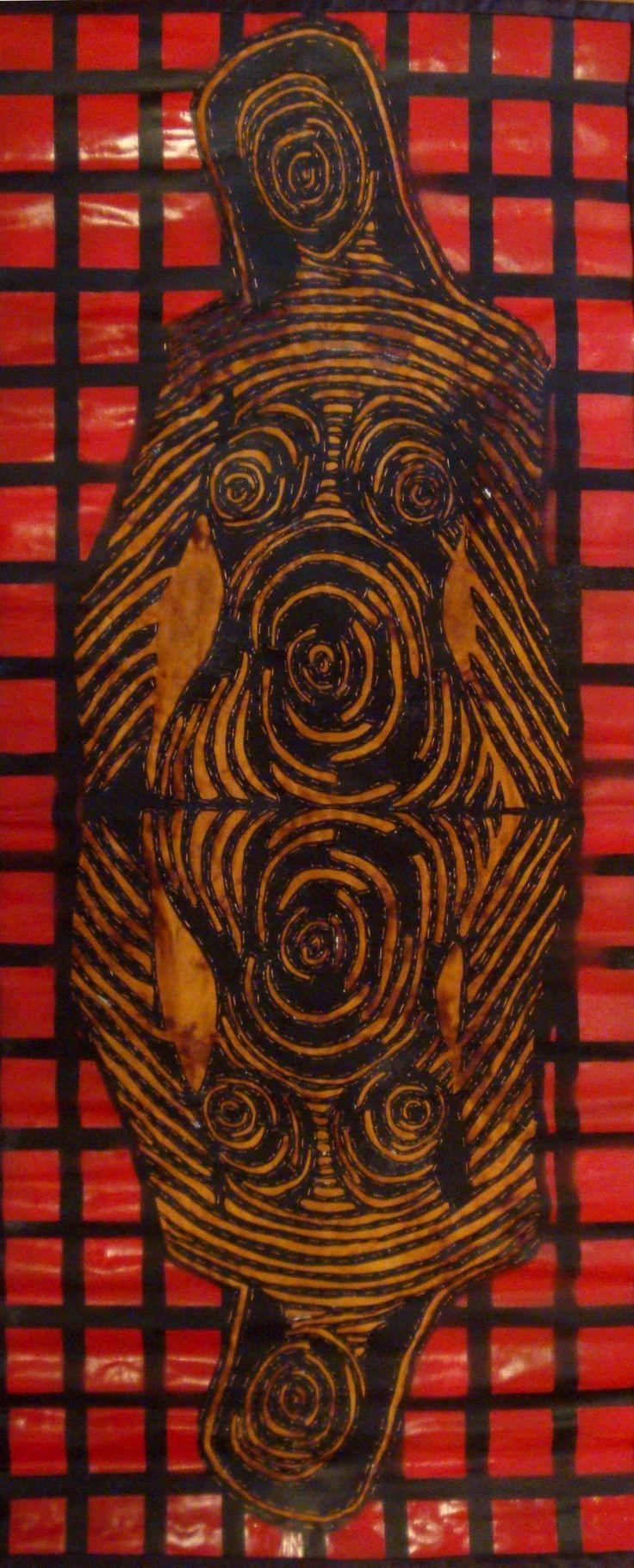 FICHA TÉCNICA  TITULO:              LLENA ERES DE GRACIA  TÉCNICA:           TAPIZ  DIMENSIONES:  47 X 115 cm  MATERIALES:    TELA SINTETICA / HILO / PINTURA EN SPRAY  FECHA:               2015