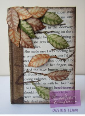 Autumn Note Book using the free girts from Crafter's Inspiration mag issue 11. By Gemma Hynes #crafterscompanion