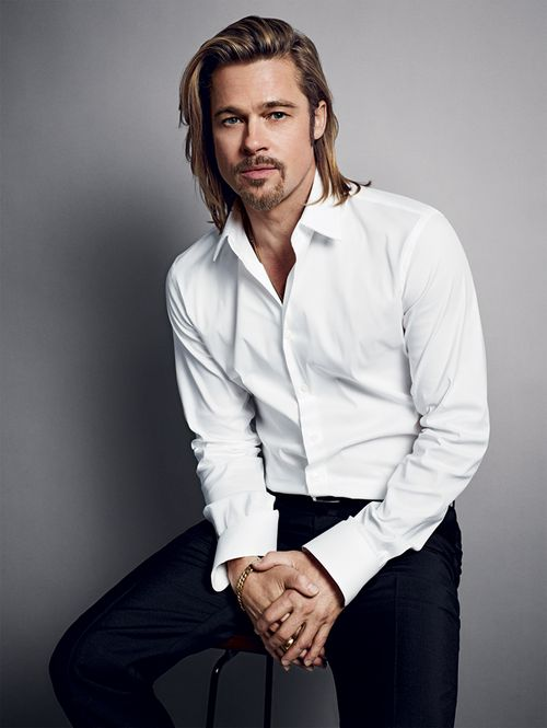 Brad Pitt for Chanel No. 5. Photographed by Mario Sorrenti.