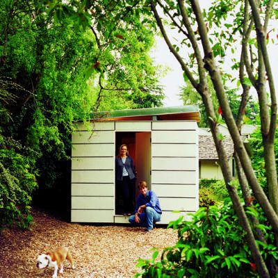 Stylish storage. In need of space for basic yard storage at their Seattle home, Ahna Holder and Ryan Smith decided to design and build a simple but fun 10- by 12-foot garden shed.