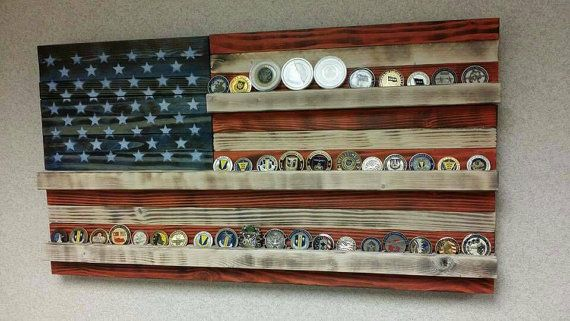 American flag coin holder by RozmanWoodDesign on Etsy