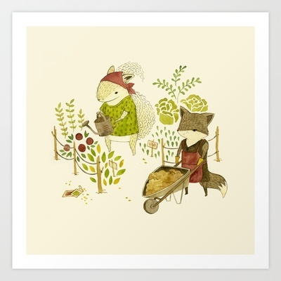 Growing a Garden Art Print by Teagan White - $15.60