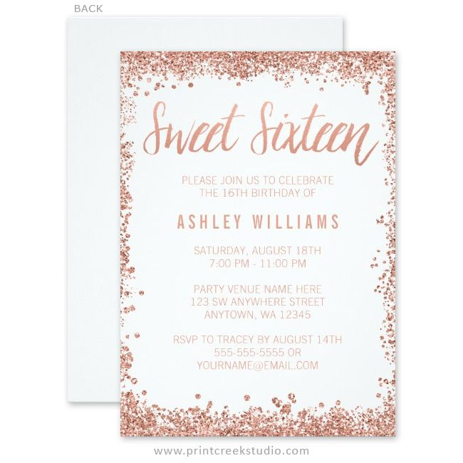 Best 25 Sweet 16 Invitations Ideas On Pinterest Sweet Sixteen