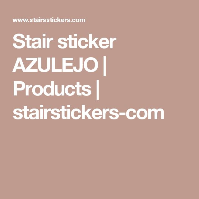 Stair sticker AZULEJO | Products | stairstickers-com