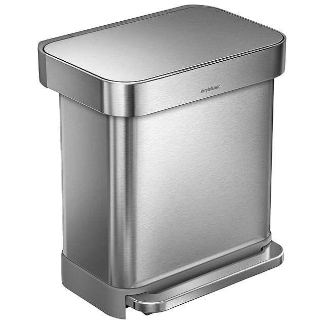 Buysimplehuman Liner Pocket Pedal Bin, Brushed Steel, 30L Online at johnlewis.com