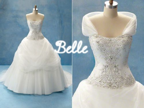 I. WANT. THIS. Beauty and the Beast wedding dress