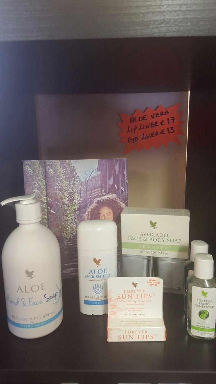 shop display of aloe