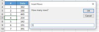 "Cara Termudah Menambahkan Baris Pada Cell   Cara kali ini tidak kalah serunya dalam hal bekerja dengan Excel. Kamu bisa menambahkan baris baru di antara cell cukup dengan mengetikkan jumlah baris yang kamu inginkan dan macro ini akan melaksanakannya. Masuk ke Visual Basic Editor (AltF11) dan ketikkan kode di bawah ini:  Sub InsertRowsBelowActiveCell()  Dim CountInsertRows As String  CountInsertRows = InputBox( _  ""How many rows? "" _  ""Insert Rows"")  If CountInsertRows = """" Or…"