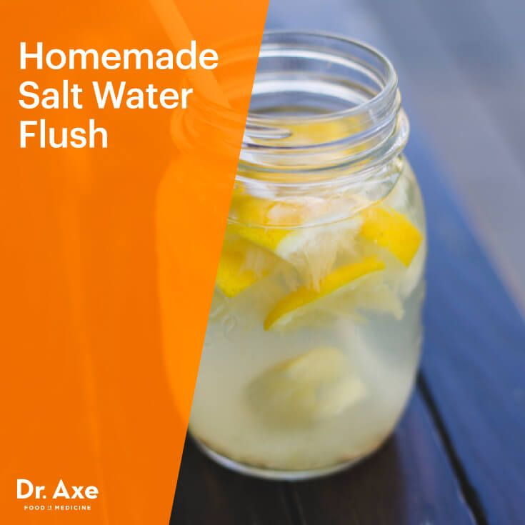 Salt water flush recipe