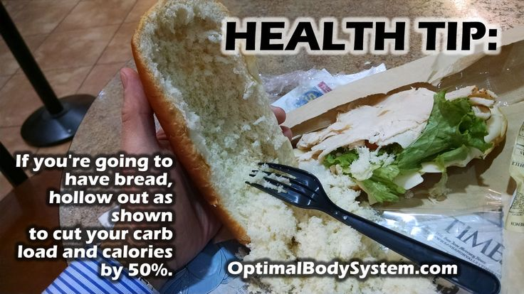 Health hack - if you have to have your bread carbs, do this and cut your calories.
