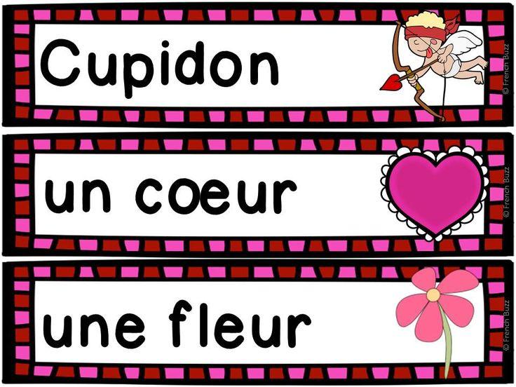 Gratuit ! 21 étiquettes-mots pour le mur de mots de la Saint-Valentin.