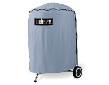 This standard vinyl cover helps keep your Weber barbecue kettle clean and protected from dirt and dust when stored in the shed.