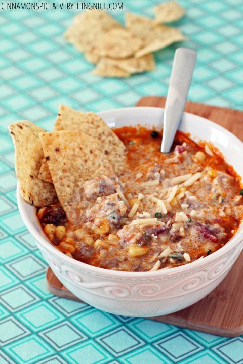 slow cooker beef and rice enchilada soup recipe