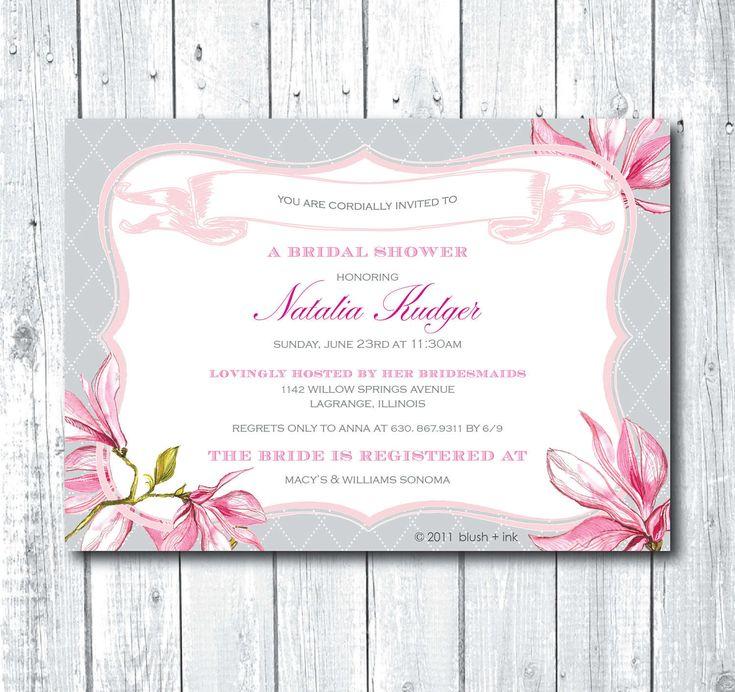 79 best images about Bridal Shower on Pinterest Bridal shower - free printable wedding shower invitations templates