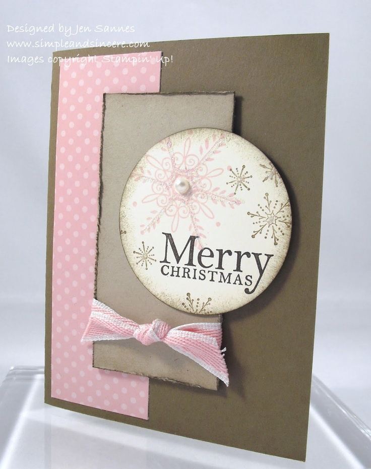 like the rectangles with the circle, and pink + brown is one of my favorite color combos...Simple & Sincere