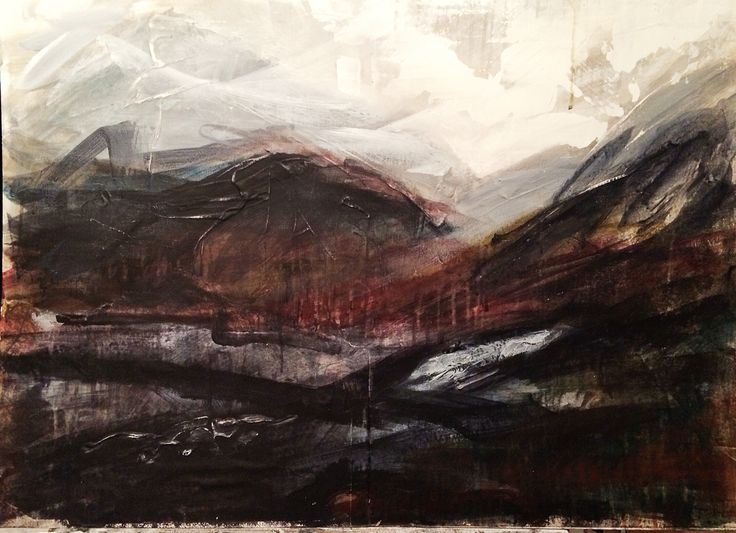 'Velvet Morning' - Acrylic & collage on board... This work will be available at Ffin Y Parc Gallery in 2015 www.welshart.net