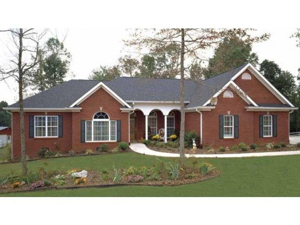 Best 25 brick ranch house plans ideas on pinterest for Brick ranch house plans