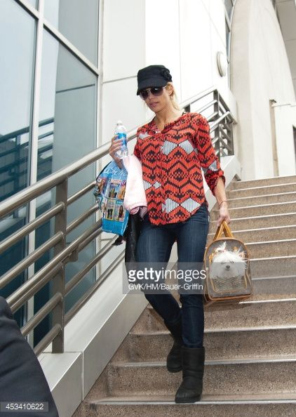 Torrie Wilson is seen at Los Angeles International Airport on February 06, 2012 in Los Angeles, California.