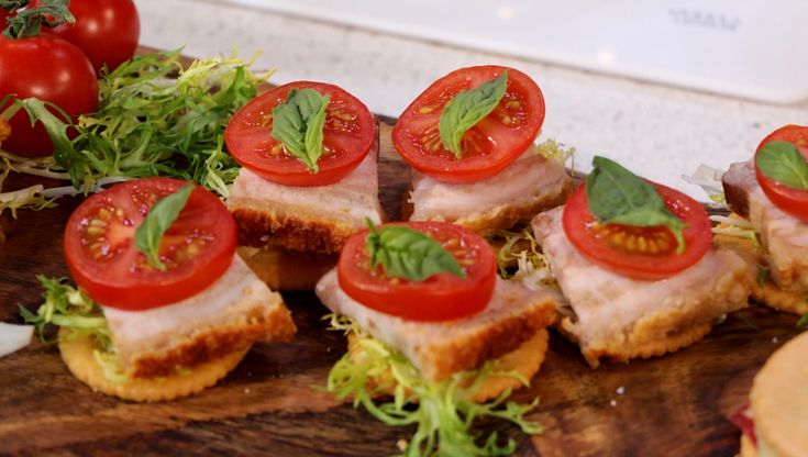 The popular Ritz Crackers transformed into the ultimate BLT. Perfect to serve for a quick appetizer.