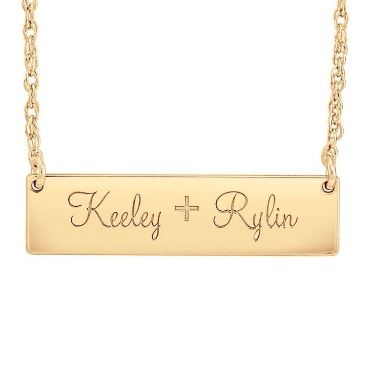 Posh Mommy nameplate necklace