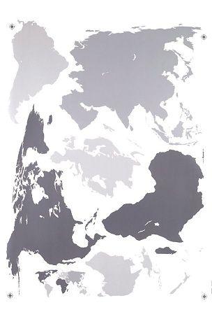 Veggdekor verdenskart 50x70 cm Grå - Wall stickers | Ellos Mobile