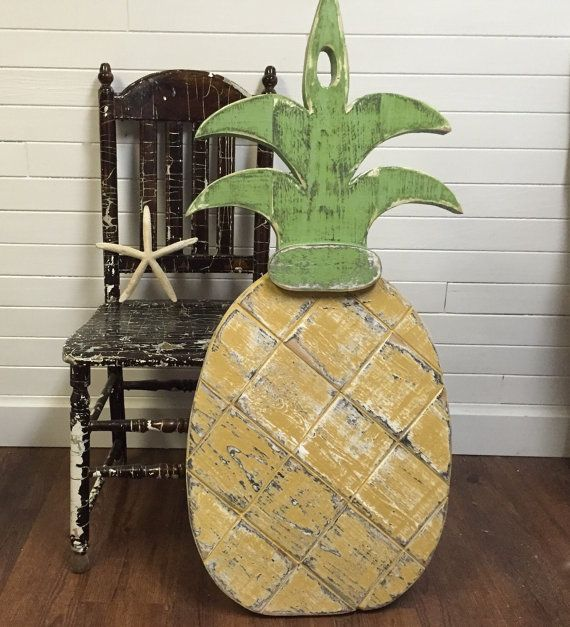 Pineapple Sign Wall Art Extra Large Interior Exterior Wood Address House Number Tropical Beach House by CastawaysHall  Ready to Ship  The
