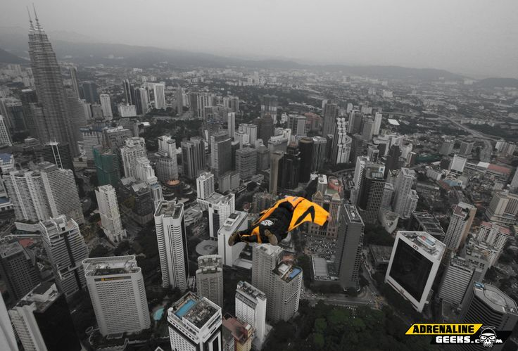 KL Tower Wingsuit Jump - Shane Murphy #BASEJumping