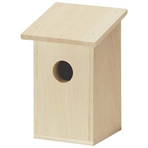Bluebird House. Premium bluebird house manufactured with heavy-duty cedar lumber for superior weather resistance.Side tilts out for inspection and cleaning.Designed to specifically attract bluebirds with a 1.5 inch entrance hole.Mount the house 5-6 feet above the ground on a pole and ensure that the entrance hole does not face the direction ofstorms.Spacing the houses 200 feet apart will prevent any territorial conflict.Dimensions (L x W x H):2.75 x 2.75 x 10.