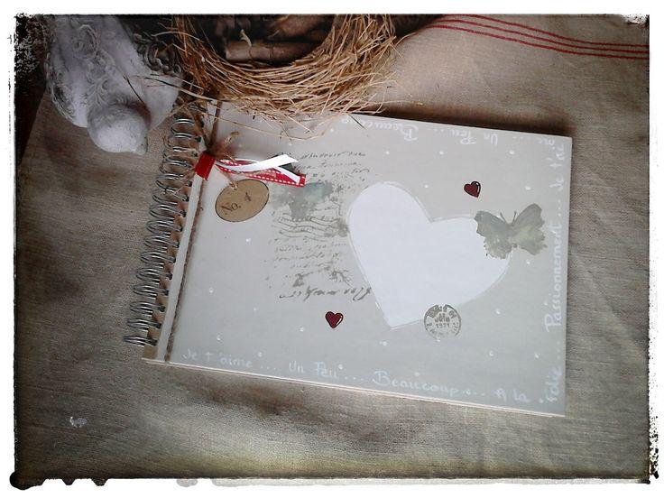 """Livre d'or pour mariage """"Coeur"""" : Albums photos par atelier-plume-d-ange"""
