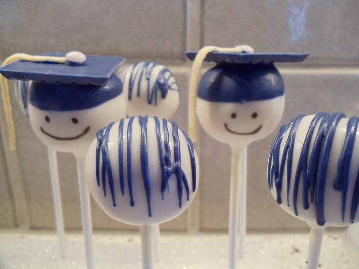 Who can resist a Graduation Cake-pop in your school colors!  Perfect for your graduation party!