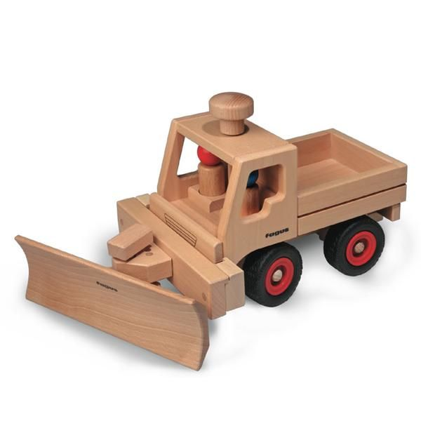 Made in Germany, our Snow Plow Extension by Fagus is an entertaining accessory that attaches to the front of our Basic Truck Unimog (sold separately). With no screws or nails, this snow plow is made of solid natural beech wood.