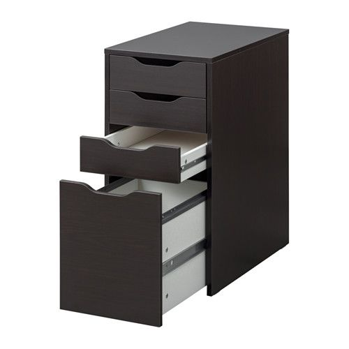 Black Alex Drawers Alex Drawer Unit/drop File Storage - Black-brown - Ikea