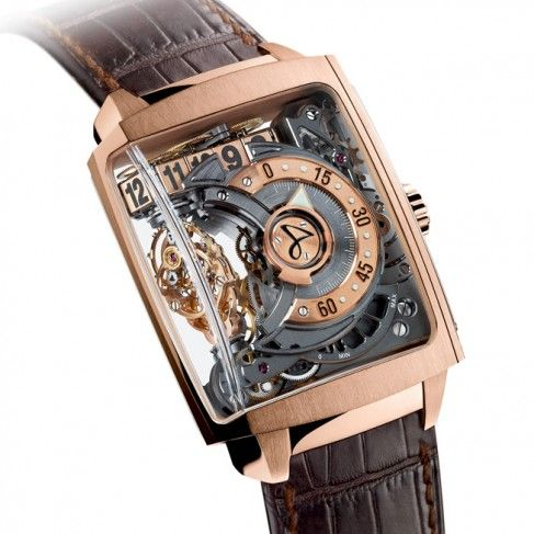 17 best images about watches skeleton watches the hautlence hl 2 0 automatic skeleton watch for men
