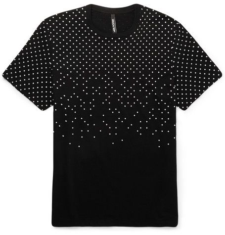 Neil Barrett Polka-Dot Printed Cotton-Jersey T-shirt | MR PORTER