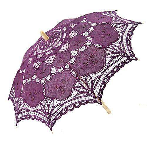 "Victorian style Romantic Lace Parasol for Decoration Color: pink Size: 26"" * 30"""