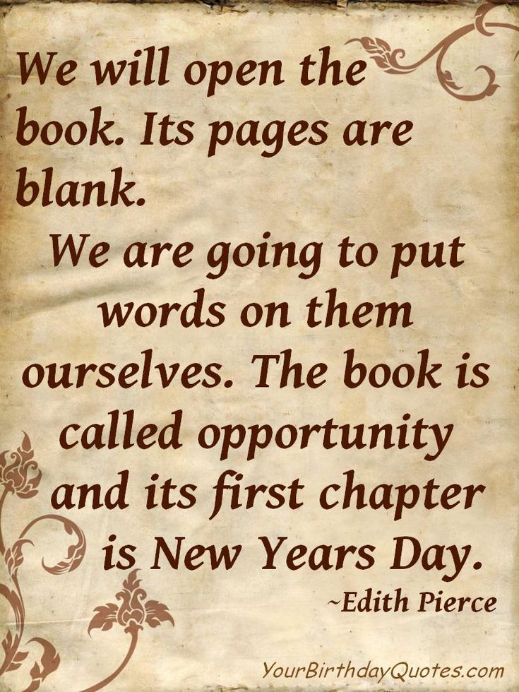 Awesome New Years Quotes: We Will Open The Book A New Years Quote In Classic Paper Design ~ Mactoons Art Inspiration