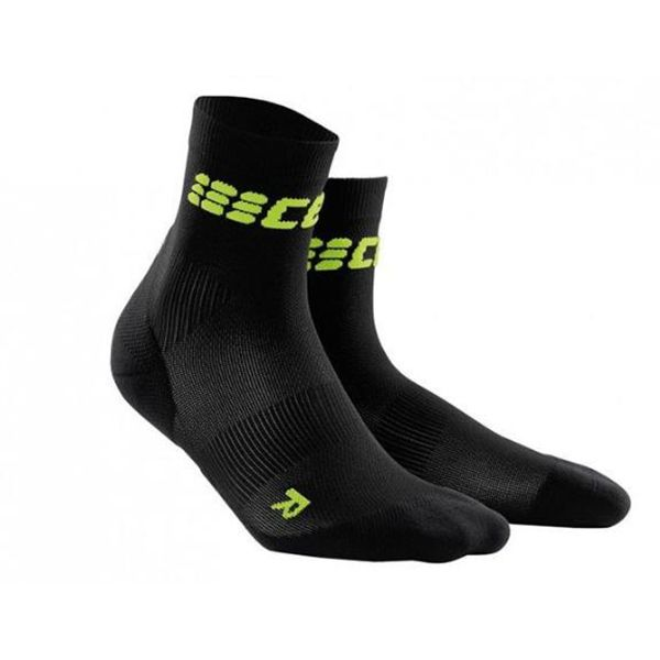 CEP Compression Women's Dynamic+ Run Ultralight Short Socks Black/Green - Extra-strong compression for maximum performance. #ReadySetGoFitness #CEP #Compression #WomensWear #Recovery