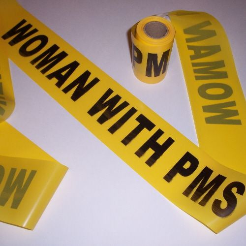 Prank your girl with this hilarious caution tape.  http://funnygaggiftsshop.com/  #pms #womanwithpms #funnycautiontape