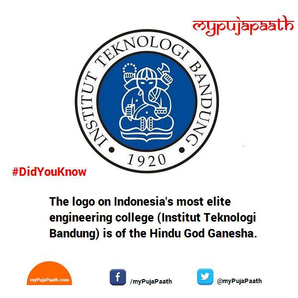 Logo on Indonesia's most elite engineering college is of the Hindu God Ganesha