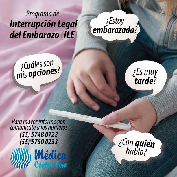 Programa de Interrupción Legal en el D.F. http://www.medicacenterfem.com/interrupcion-legal-del-embarazo/